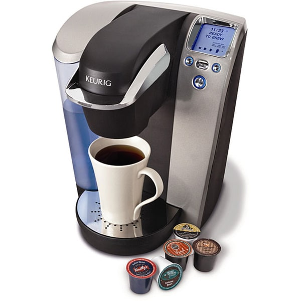 Keurig K75 Grey/Black Platinum Brewing System with 12-pack K-cups