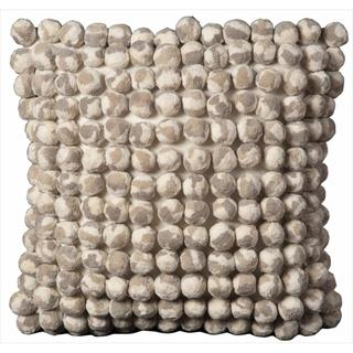 Nourison Pom Collection Grey White 20-inch Decorative Pillow
