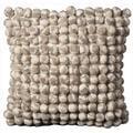 Nourison Pom Collection Grey White 20-inch Decorative Pillow