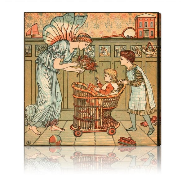 Oliver Gal 'Baby's Bouquet' Canvas Art