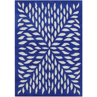 Alliyah Rugs Handmade Hand-tufted Blue New Zealand Blend Wool Rug (8' x 10')