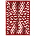 Alliyah Rugs Handmade Red New Zealand Blend Wool Rug (5x8)