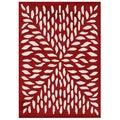 Alliyah Rugs Handmade Red New Zealand Blend Wool Rug (5x8)