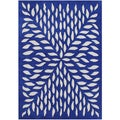 Handmade Blue Blended Wool Rug (5' x 8')