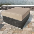 Sirio 'Morgan' Cushioned Outdoor Wicker Ottoman