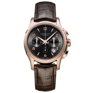 Hamilton Men's 'Jazzmaster Auto Chrono' Black Dial Watch