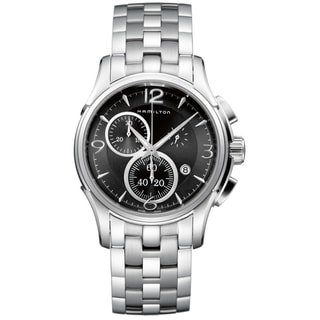 Hamilton Men's 'Jazzmaster Chrono Quartz' Stainless Steel Watch