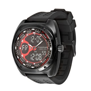 Freestyle Men's 'Contact' Black/ Red Analog/ Digital Watch