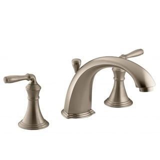 Devonshire Brushed Bronze Deck-mount Bath Faucet Trim with Lever Handles