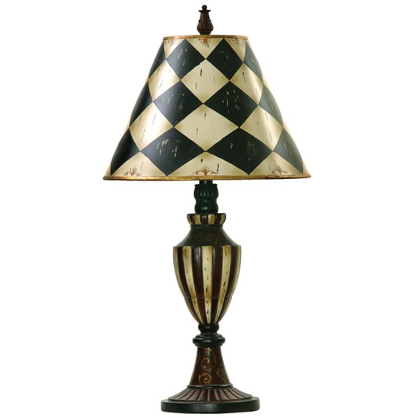 dimond lighting led 1 light urn table lamp in black and antique white. Black Bedroom Furniture Sets. Home Design Ideas