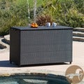 Christopher Knight Home Large Black Wicker Cushion Box