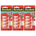 Scotch Pack of 12 Single Use Super Glue Precision Tip No Run Gel