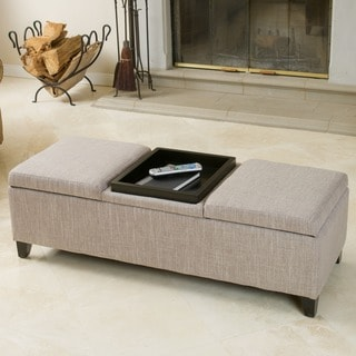 Christopher Knight Home Harold Fabric Storage Ottoman