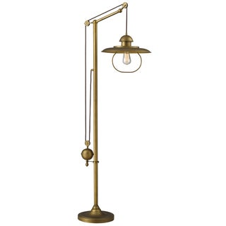 Dimond Lighting LED 1-Light Floor Lamp in Antique Brass Finish