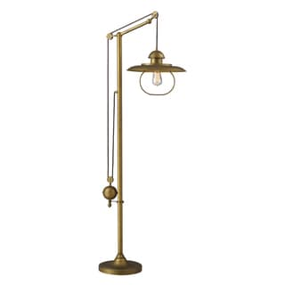 Dimond Lighting 1-light Floor Lamp in Antique Brass Finish