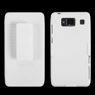 INSTEN Ivory White Holster for Motorola XT926M Droid Razr Maxx HD