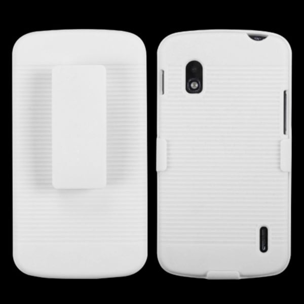 BasAcc Ivory White Rubberized Holster for LG E960 Nexus 4