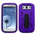 BasAcc Purple Case with Stand for Samsung Galaxy S III/ S3 i9300