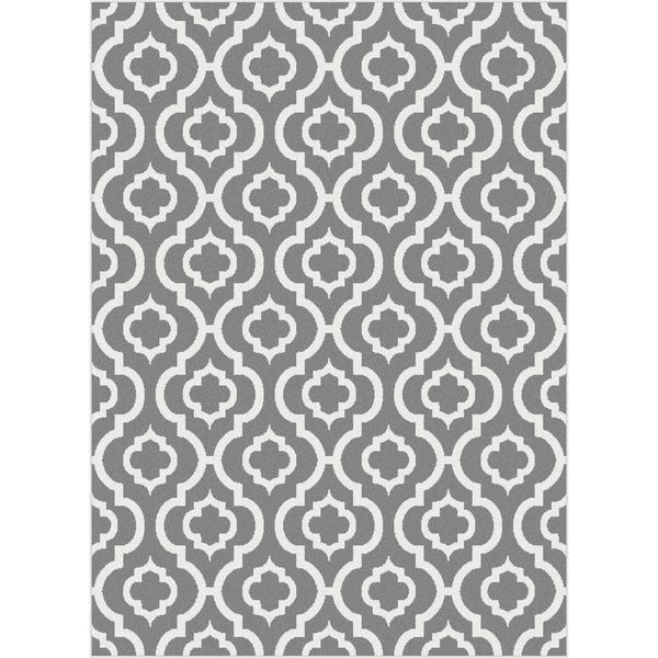Grey and white moroccan rug
