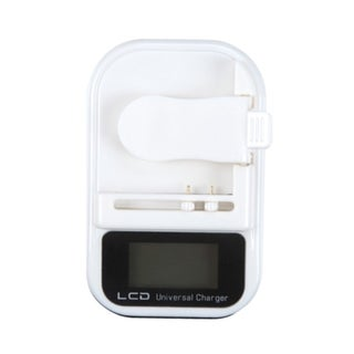 BasAcc Black LCD Universal Cell Phone Battery Charger
