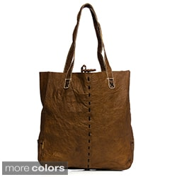 Leather Tote Bag with Double Handles (Nepal)