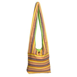 Woven Stripe Reversible Tote Bag (Nepal)