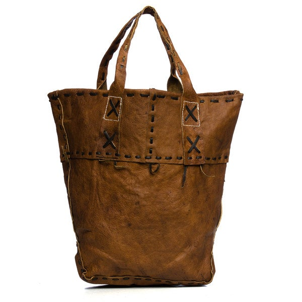 Brown Leather Tote Bag (Nepal)