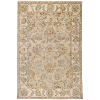 Hand-knotted Calanthe Beige Wool Traditional Oriental Rug (5'6 x 8'6)
