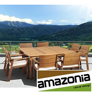 Amazonia Albany 9-piece Square Dining Set