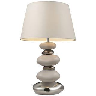 Dimond Lighting LED 1-light Table Lamp in White and Chrome Finish