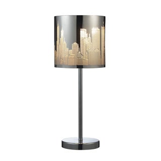Dimond Lighting 1-light Table Lamp In Polished Stainless Steel Finish