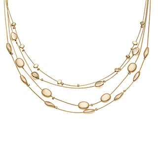 Kate Bissett Gold Overlay Nugget Station 'Circle of Beauty' Necklace