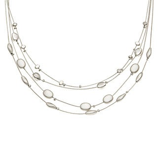 Kate Bissett Silvertone Nugget Station 'Beaded Bliss' Necklace