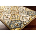 Woven Leucadia Yellow Contemporary Floral Rug (2'2 x 3')