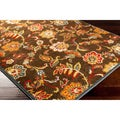 Woven Camarillo Brown Contemporary Floral Rug (2'2 x 3')