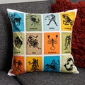 Astrology Sign Cotton Pillow Cover (India)