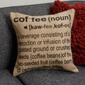 Coffee Conversation on Natural Jute Pillow Cover (India)