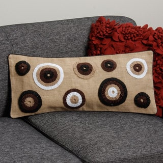Brown Dots Rectangle Pillow Cover (India)