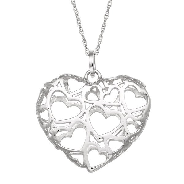 Gioelli Sterling Silver Heart of Hearts Necklace