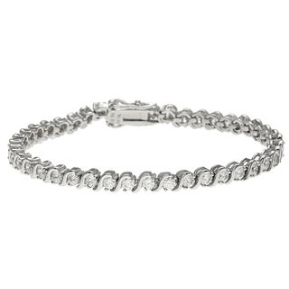 Sunstone Sterling Silver Tennis Bracelet Made with SWAROVSKI ZIRCONIA