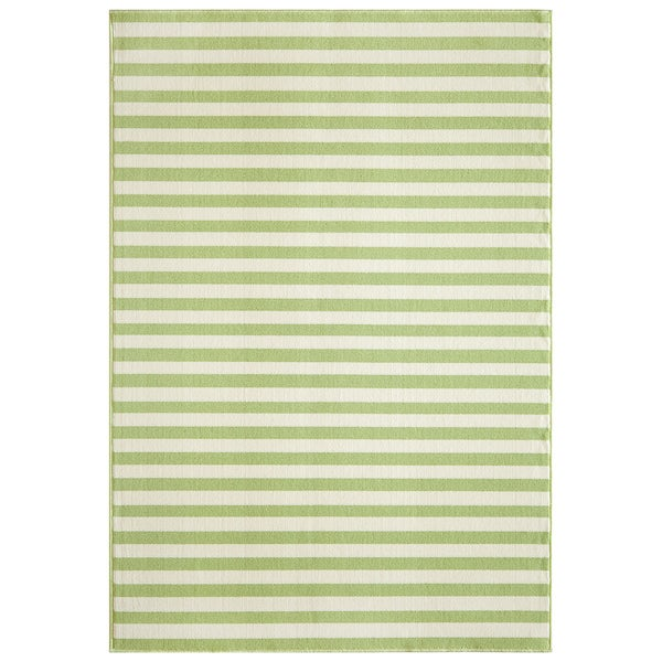 Indoor Outdoor Green Striped Rug 5 3 X 7 6 15395680