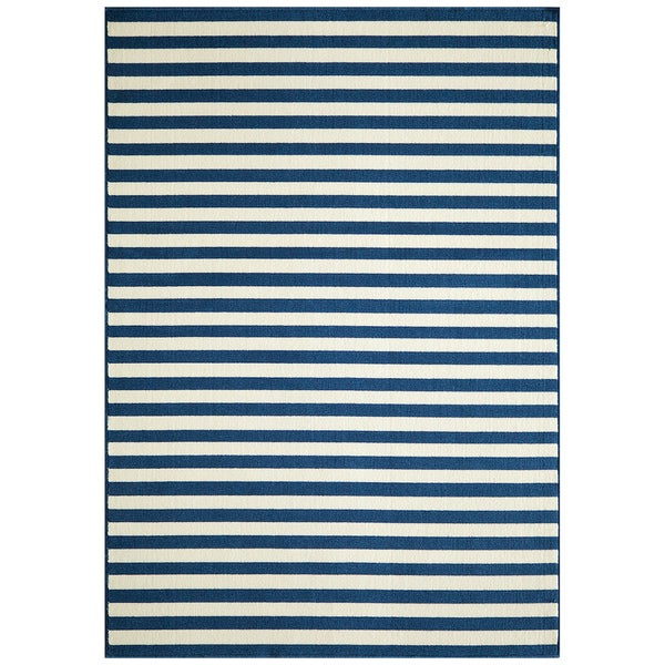 Indoor/ Outdoor Striped Rug (6'7 x 9'6)