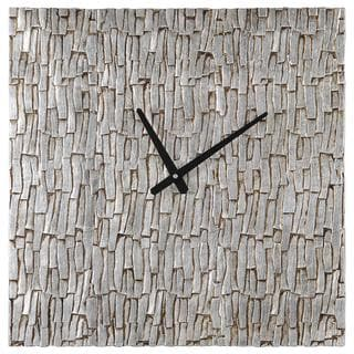 Silver Bark Wall Clock