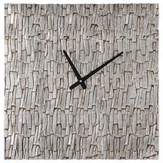 Silver Bark Wall Clock