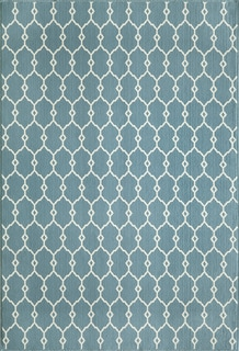 Indoor/Outdoor Blue Trellis Rug (1'8 x 3'7)
