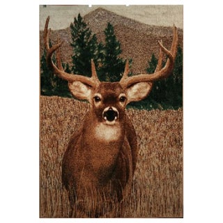 Lodge Buck Area Rug (5'3 x 7'3)