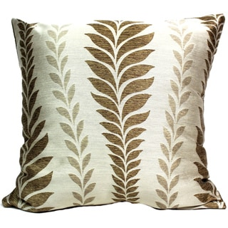 Zahara Leaf Topaz Throw Pillow (16 x 16)