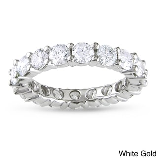 Miadora Signature Collection 14k Gold 3ct TDW Certified Diamond Eternity Wedding Band (G-H, I1-I2)