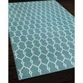 Indoor/Outdoor Trellis Blue Rug (6'7 x 9'6)