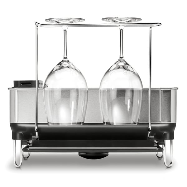 Simplehuman Compact Steel Grey Frame Dishrack